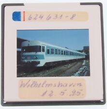"""Original KB Dia - Triebwagen VT 624 631-8 der DB - Wilhelmshaven 1995 """"Zfd"""