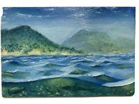 Original Oil Painting shark turtle Ocean Seascape art realism originals Signed