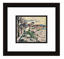 """LOOK 1958 MAURICE VLAMINCK Lithograph """"Les Coteaux de Chatou"""" SIGNED FRAMED COA"""