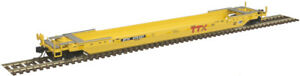 Atlas N Scale 53' Rebuilt Well Car TTX (Yellow/Red/Forward Thinking) #470302