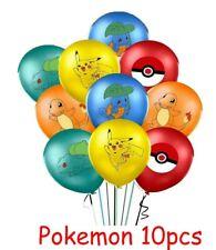 Pokemon Balloon 10pcs Colour Printed Latex Helium Balloons Pikachu Pokeball