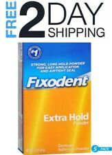 Fixodent Denture Adhesive Powder Extra Hold 1.60 oz (Pack of 5)