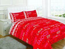 Luxury Keep Calm testo Rosso Design Set Copripiumino Biancheria Da Letto Con Federa Di Copertura