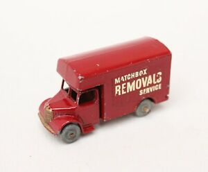 Matchbox Lesney MB 17 Bedford Removals Van - Rare Maroon with Gold Trim
