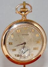 Antique ZENITH 17J Pocket Watch~Yellow Gold Filled~Early 1900