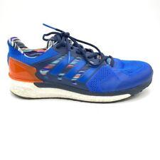 Adidas Mens Supernova ST Boost Running Shoes Blue Orange Lace Up BA7998 12 New