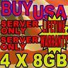 32GB KIT 4X8GB HP Hewlett Packard Workstation xw460c xw6400 xw6600 RAM MEMORY