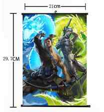 Hot Anime Blizzard Game Overwatch OW Hanzo Genji Home Decor Poster Wall Scroll