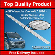 MERCEDES VITO 2014+ W447 POLISHED REAR BUMPER PROTECTOR STAINLESS CHROME TRIM