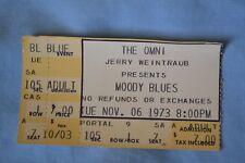 Original Moody Blues Concert Ticket Stub11/06/73Seventh Sojourn Omni Atlanta
