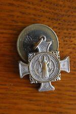 Cross Ancienne Médaille Religieuse Deus Inobitunropret Sentia Muniamur