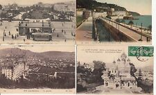 Lot 4 cartes postales anciennes NICE