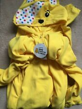 Children/'s BNWT Children in Need Pudsey Bear Jaune T-shirt Homme Youth M /& L