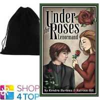 UNDER THE ROSES LENORMAND ORACLE DECK CARDS ESOTERIC US GAMES SYSTEMS VELVET BAG