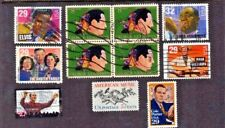 11 US Stamps USA  Music. Satchmo, Elvis, Cole Porter Plus FREE packet US Stamps