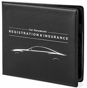 2 Pack, Automotive Car Document Organizer Car Insurance Registration 5 x 4.5