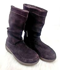 FitFlop Women's Dark Brown Suede Mid-Calf Pull On Boots Size 7