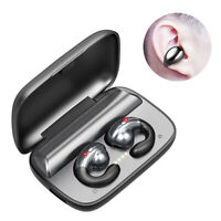 Pair Wireless Bluetooth 5.0 Bone Conduction Headset Hook Earbud Stereo Headphone