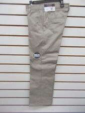 Boys Nautica $36 Uniform/Casual Khaki Flat Ft Double Knee Pants Husky Sz 10H-16H