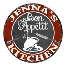 CPBK-0453 JENNA'S KITCHEN Bon Appetit Chic Tin Sign Decor Gift Ideas