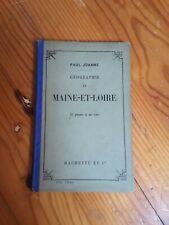 1908 GUIDE JOANNE HACHETTE MAINE ET LOIRE 16 GRAVURES  + CARTE COULEUR