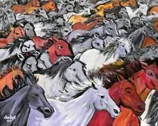 WILD Mustang HORSES Original Art PAINTING DAN BYL modern Contemporary Huge 4x5ft