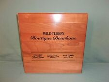 Wild Turkey Boutique Bourbons Salesman Sample Tasting Kit In Wood Case  ORIGINAL