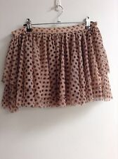 Ladies Topshop dusty pink tulle skirt size 12