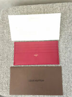 Authentic LOUIS VUITTON Felicie Insert Card/Notes Holder Brand New Condition