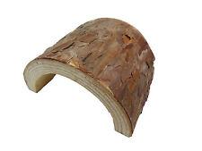 Masquer en bois régulier décoration terrarium bois & écorce reptile tunnel grotte 13 cm