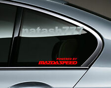 Powered by MAZDASPEED Mazda RACING RX8 Sport Decal sticker emblem logo RED Pair