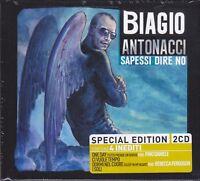 2 CD ♫ Box Set BIAGIO ANTONACCI • SAPESSI DIRE NO nuovo sigillato digibook
