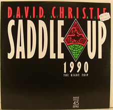 "DAVID CHRISTIE SADDLE UP 1990 LE DROIT TRIP M.C. DE 12"" MAXI SINGLE (i869)"