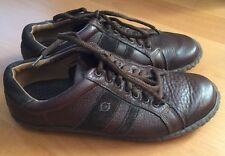 womens BORN BROWN LEATHER LACE UP OXFORD SHOES size 6.5 M Suede Details