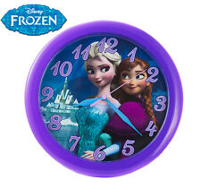 Disney Frozen 10 Inch Round Wall Clock Elsa & Anna - Brand New - Quartz Accuracy