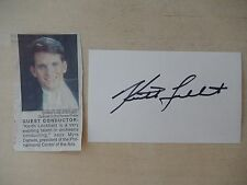"Keith Lockhart Autographed 3"" X 5"" Index Card with 2"" X 4"" Newspaper Clipping"