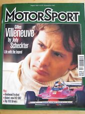 MOTORSPORT MAGAZINE AUG 1999 GILLES VILLENEUVE JODY SCHECKTER GOODWOOD FESTIVAL