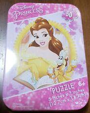 "Disney Princess (Belle) Mini Puzzle w/ Collectible Tin ~ 50 Pieces 5"" x 7"""