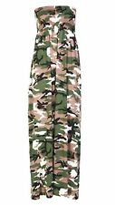 Womens Plus Size Boob Tube Long Summer Strapless Printed Sheering Maxi Dress Camouflage Print 24-26