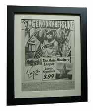 ANTI NOWHERE LEAGUE+Yugoslavia+POSTER+AD+RARE+ORIG 1983+FRAMED+FAST GLOBAL SHIP