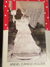 NEW Silver Plated Christmas Angel Candle Holder International Silver Company