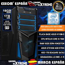 Ordenador Gaming Pc Intel I5 7600 16GB DDR4 1TB Asus GTX1050 4GB DDR5 Strix