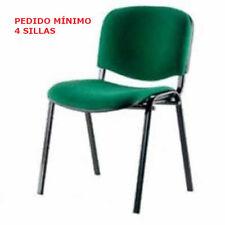 Silla Ufficio ISO, color verde, cer. ignífuga, para visitantes, sala de espera