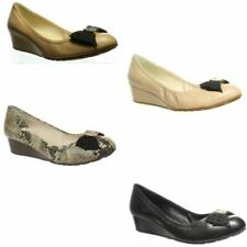 Cole Haan Womens Tali Soft Bow Wedge Pumps