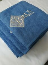 Hand And Bath Towels Blue.  4 Piece