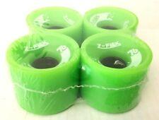 Neon Green Soft Longboard Wheels Z-Flex 65mm - New in Package - Set of 4 Wheels
