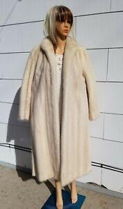 """55 FAVS! Near MINT 42"""" Chest Med Large BLONDE Mink Long Fur Coat"""