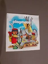 Playmobil Sticker - Indian Theme. Extremely Rare.