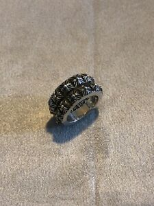 Chrome Hearts Double Pete Punk Ring Silver 925 Size 7 Preowned Authentic