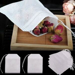 Empty Tea Bags Filter Loose Paper Teabags Herb String Seal Heat 100pcs Hot.。。